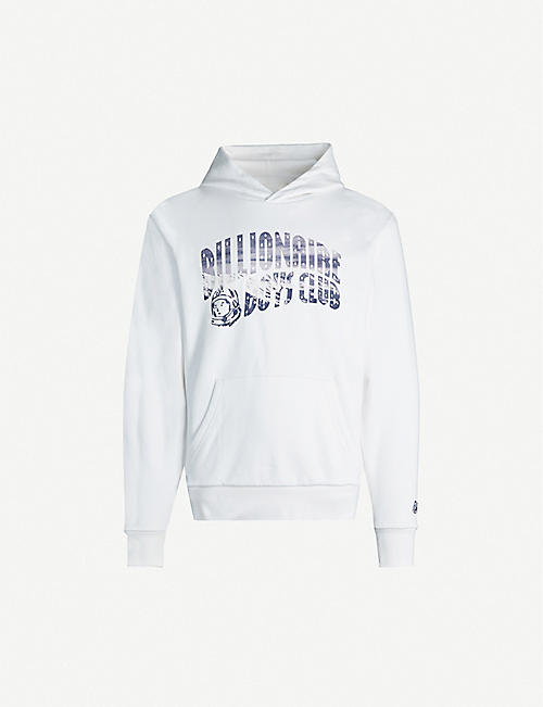 BILLIONAIRE BOYS CLUB: Logo-print cotton-jersey hoody