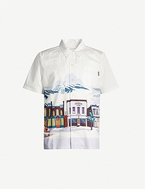 BILLIONAIRE BOYS CLUB Graphic-print slim-fit cotton shirt