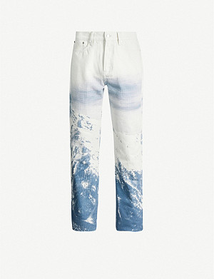 BILLIONAIRE BOYS CLUB Graphic-print regular-fit jeans