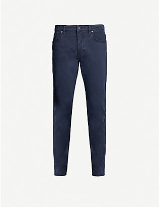 NEUW: Lou Slim straight stretch-cotton twill jeans