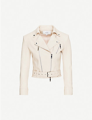 JITROIS: Kristen leather biker jacket