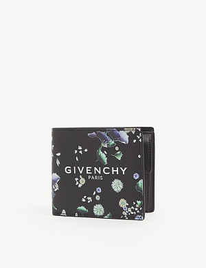 GIVENCHY Floral-print leather wallet