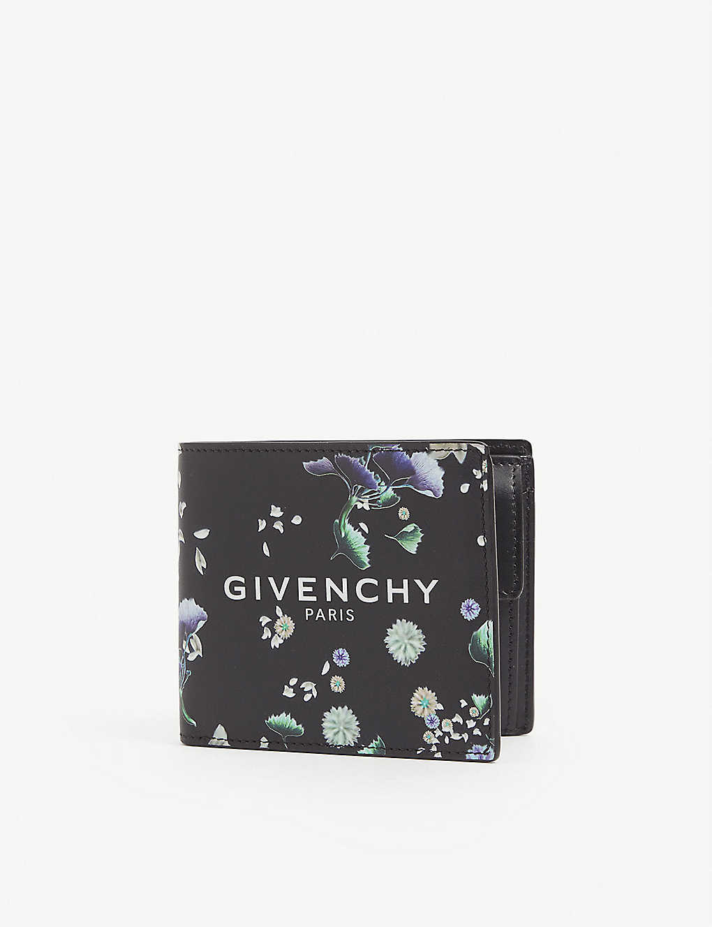 GIVENCHY: Floral-print leather wallet