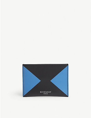 GIVENCHY: Arrow leather card holder