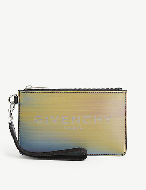 GIVENCHY Mini holographic wristlet pouch