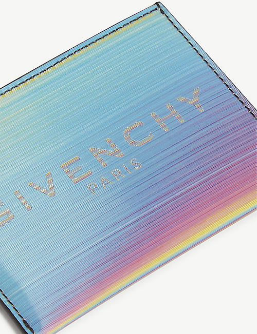 GIVENCHY Iridescent logo card holder