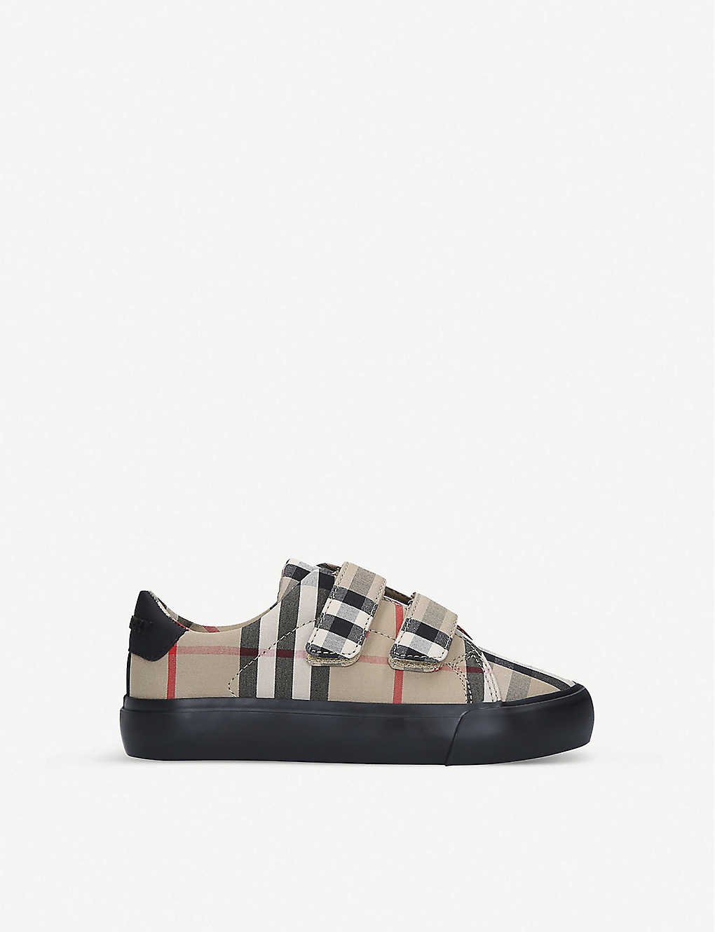 BURBERRY: Markham checked canvas trainers 6 months - 1 year