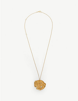 ALIGHIERI: 24k gold-plated medallion necklace