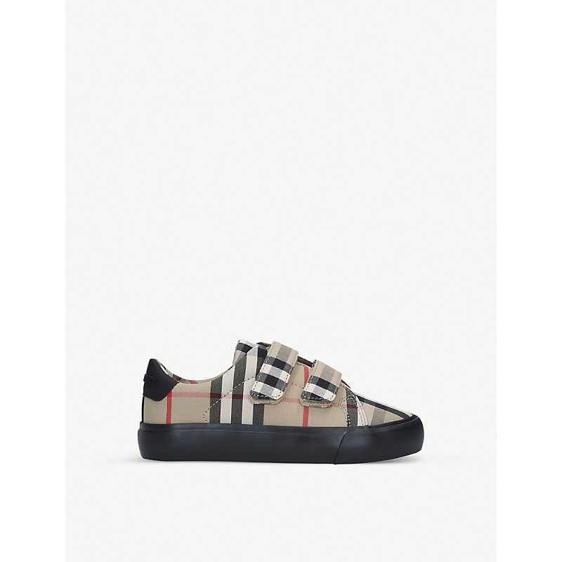 Burberry MINI MARKHAM CHECKED CANVAS TRAINERS 4-7 YEARS