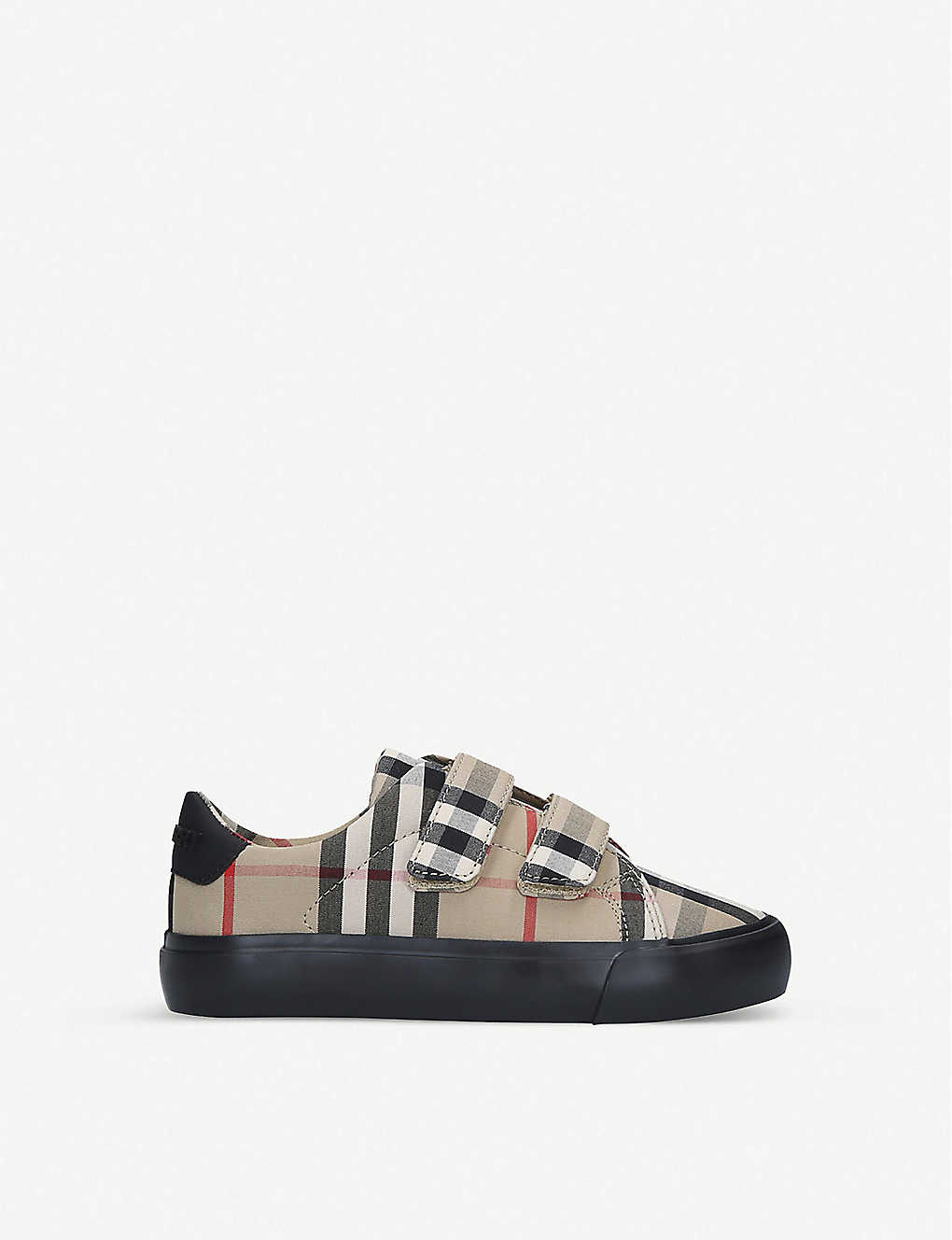 BURBERRY: Mini Markham checked canvas trainers 4-7 years