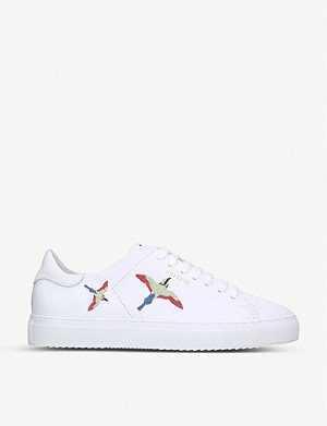 AXEL ARIGATO Clean 90 bird-embroidered leather low-top trainers