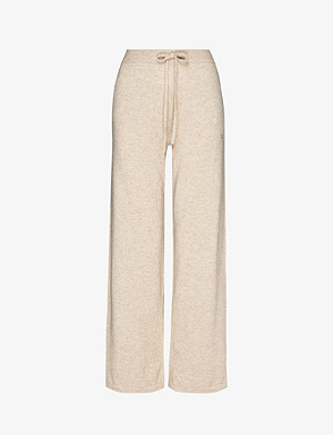 CHINTI AND PARKER Wide-leg cashmere lounge bottoms