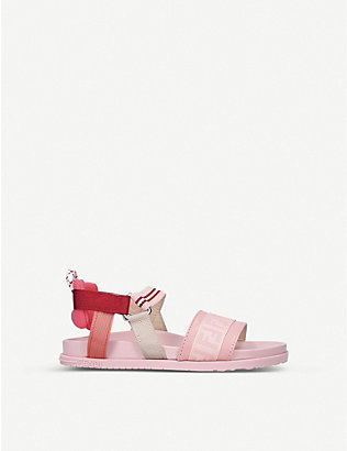 FENDI: FF logo-print elasticated sandals 3-6 years