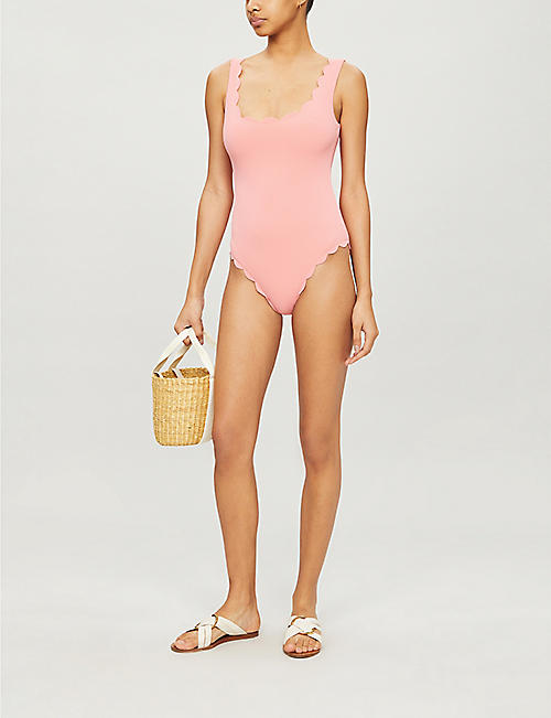 MARYSIA Palm Springs scalloped-trim swimsuit