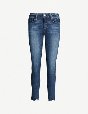 PAIGE Verdugo faded skinny mid-rise jeans