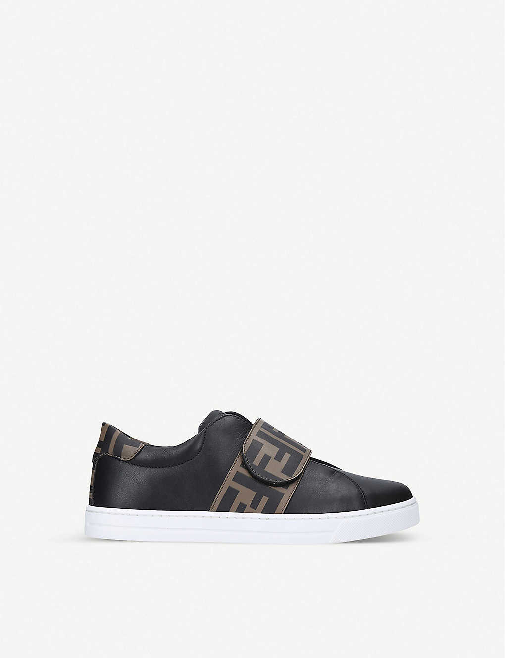 FENDI: Logo-print leather trainers 3-7 years