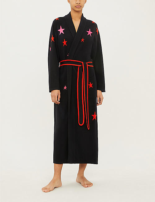 CHINTI AND PARKER Star-pattern cashmere dressing gown