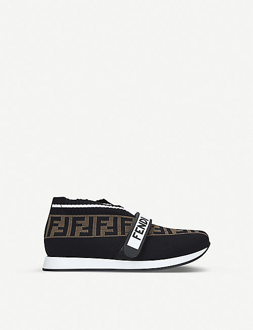 FENDI FF Love leather low-top sneakers size 4-9 years