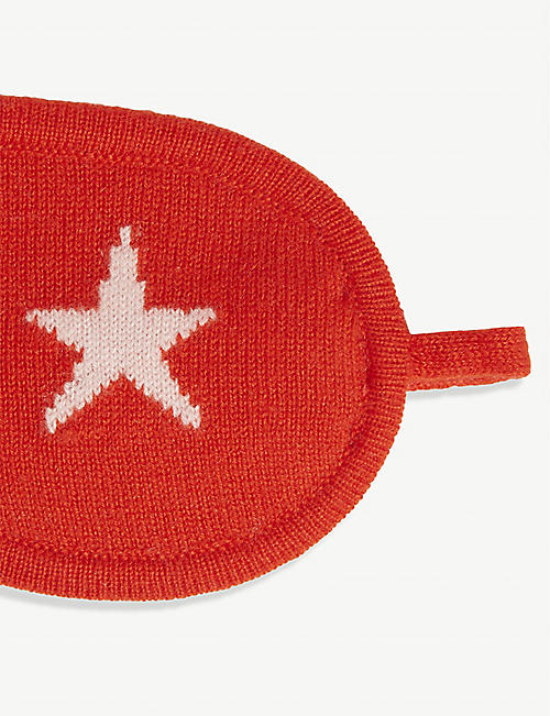 CHINTI AND PARKER Star cashmere eye mask