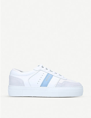 AXEL ARIGATO: Detailed Platform low-top leather trainers