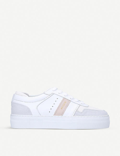 AXEL ARIGATO: Platform low-top leather trainers