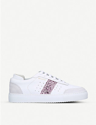 AXEL ARIGATO: Dunk glitter-embellished leather trainers