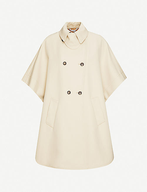 MAX MARA: Bertone double-breasted cotton cape