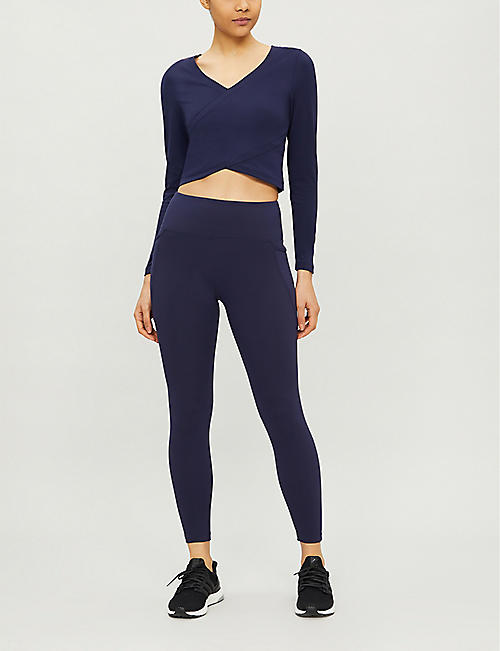 LORNA JANE Wonder stretch-jersey crop top