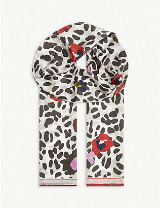 TED BAKER: Wilderr animal-print scarf