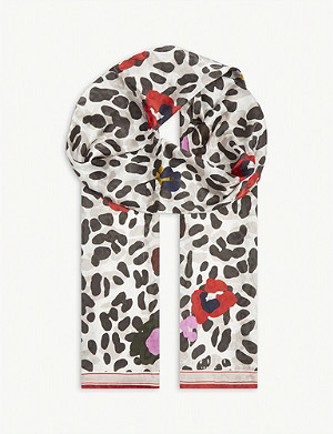 TED BAKER Wilderr animal-print scarf