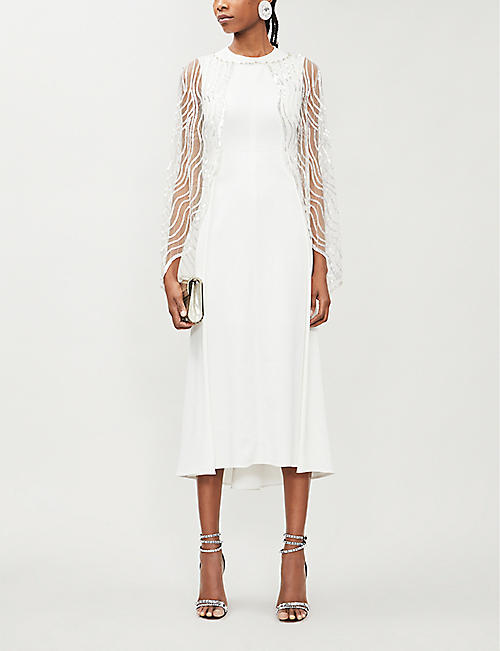 JENNY PACKHAM Neva semi-sheer sequin-embellished cape