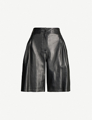 16 ARLINGTON Grant high-waisted leather shorts