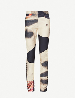 16 ARLINGTON Hepburn graphic-print stretch-cotton trousers