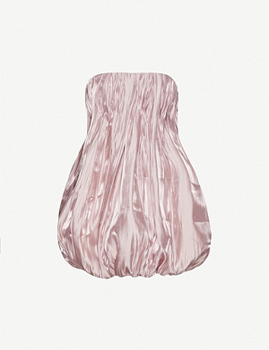 16 ARLINGTON Katharine pleated satin-crepe mini dress