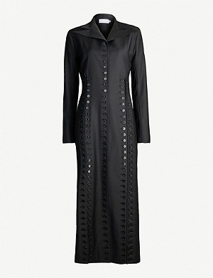 16 ARLINGTON Joan button-embellished woven coat