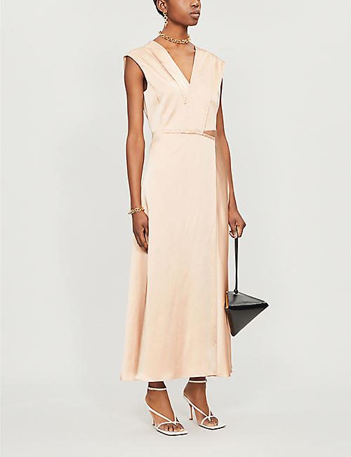 SPORTMAX V-neck sleeveless crepe dress