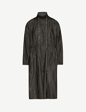 SPORTMAX Tenna funnel-neck shell coat