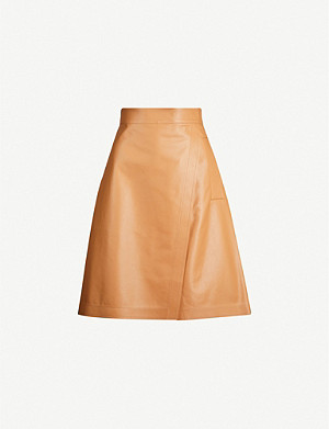 SPORTMAX Marat high-waisted leather mini skirt