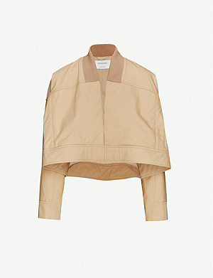 SPORTMAX Crop cotton-blend jacket