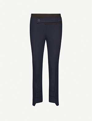 SPORTMAX Livigno straight-leg mid-rise stretch-cotton trousers