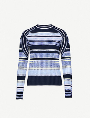SPORTMAX Efedra striped knitted jumper