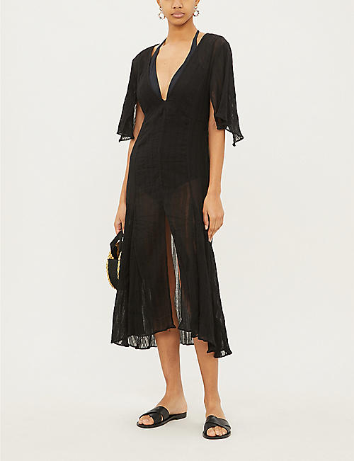 VIX Malia textured cotton kaftan