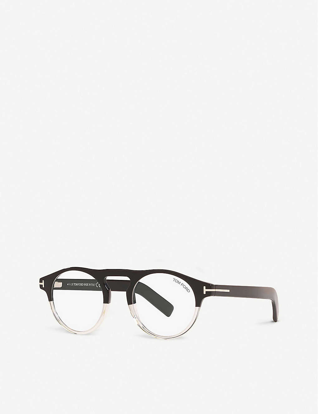 TOM FORD: FT5628-B two-tone acetate round-frame eyeglasses