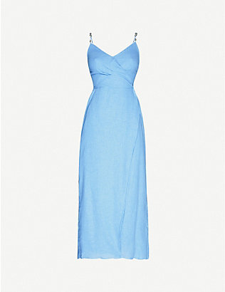 VIX: Connie linen-blend midi dress
