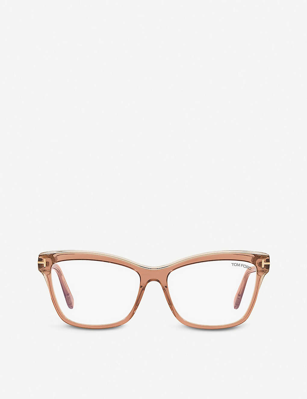 TOM FORD: FT5619-B acetate square-frame eyeglasses