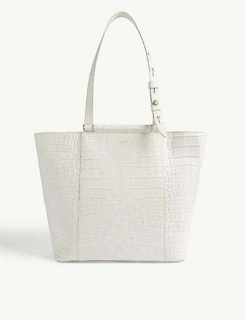 MAX MARA Oversized croc-embossed tote bag