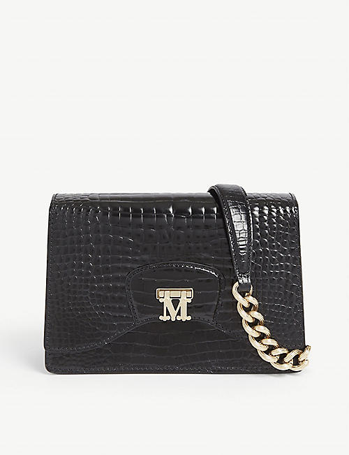 MAX MARA Croc-embossed leather cross-body bag