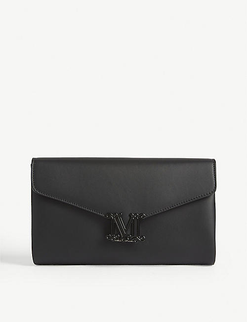 MAX MARA Linda leather clutch bag