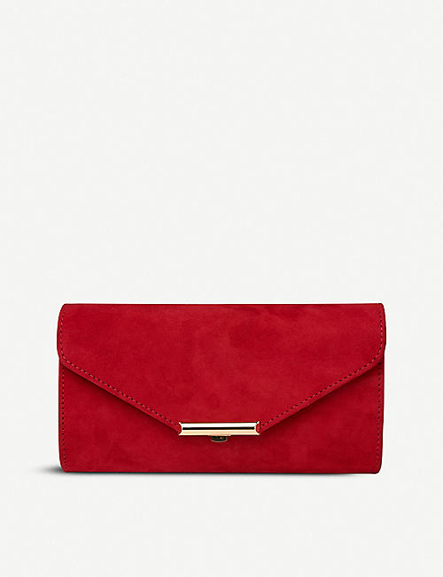 LK BENNETT: Lucy leather clutch