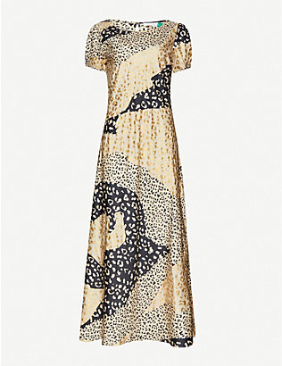 RIXO: Reese leopard-print silk-satin midi dress